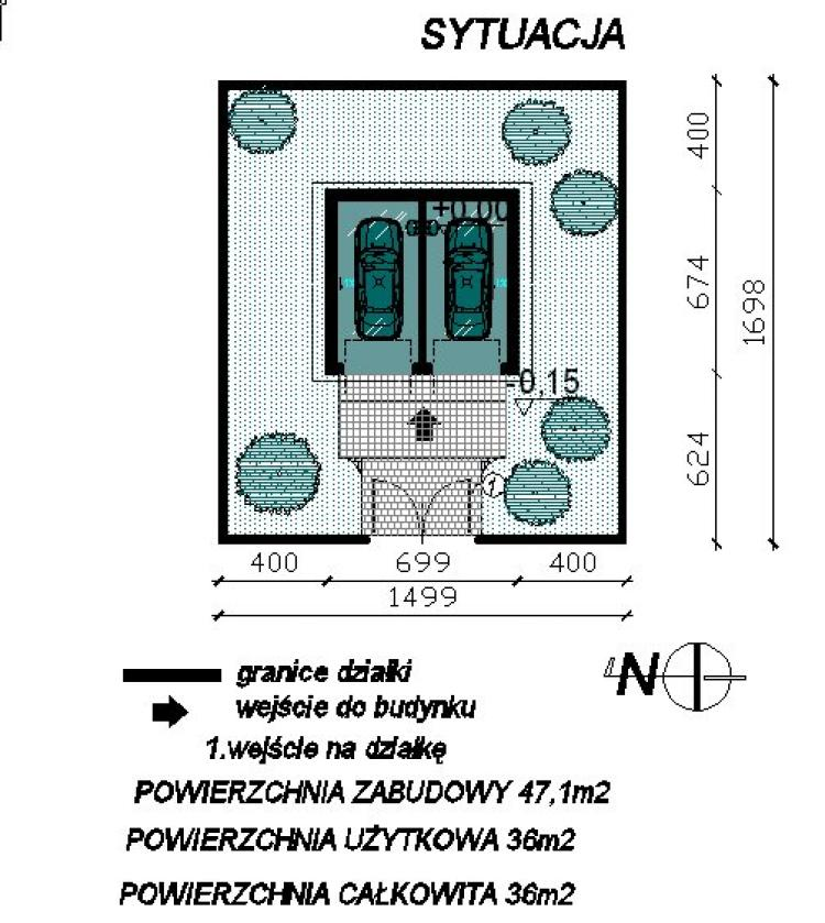 Garaż 2 Stanowiskowy G2 Gotowy Projekt Projektygotowepl